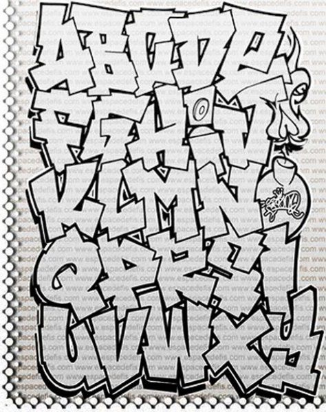 Graffiti Alphabet Bubble Letters A Z