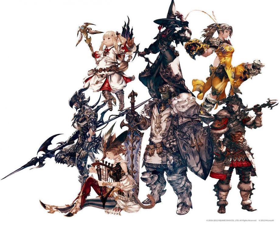 Concept art of Character Jobs from Final Fantasy XIV: A Realm Reborn