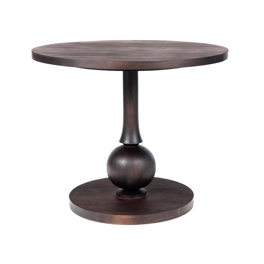 Beatrice Dinette Table with Turned Pedestal – Additional Finishes Available - 36\ / French Grey