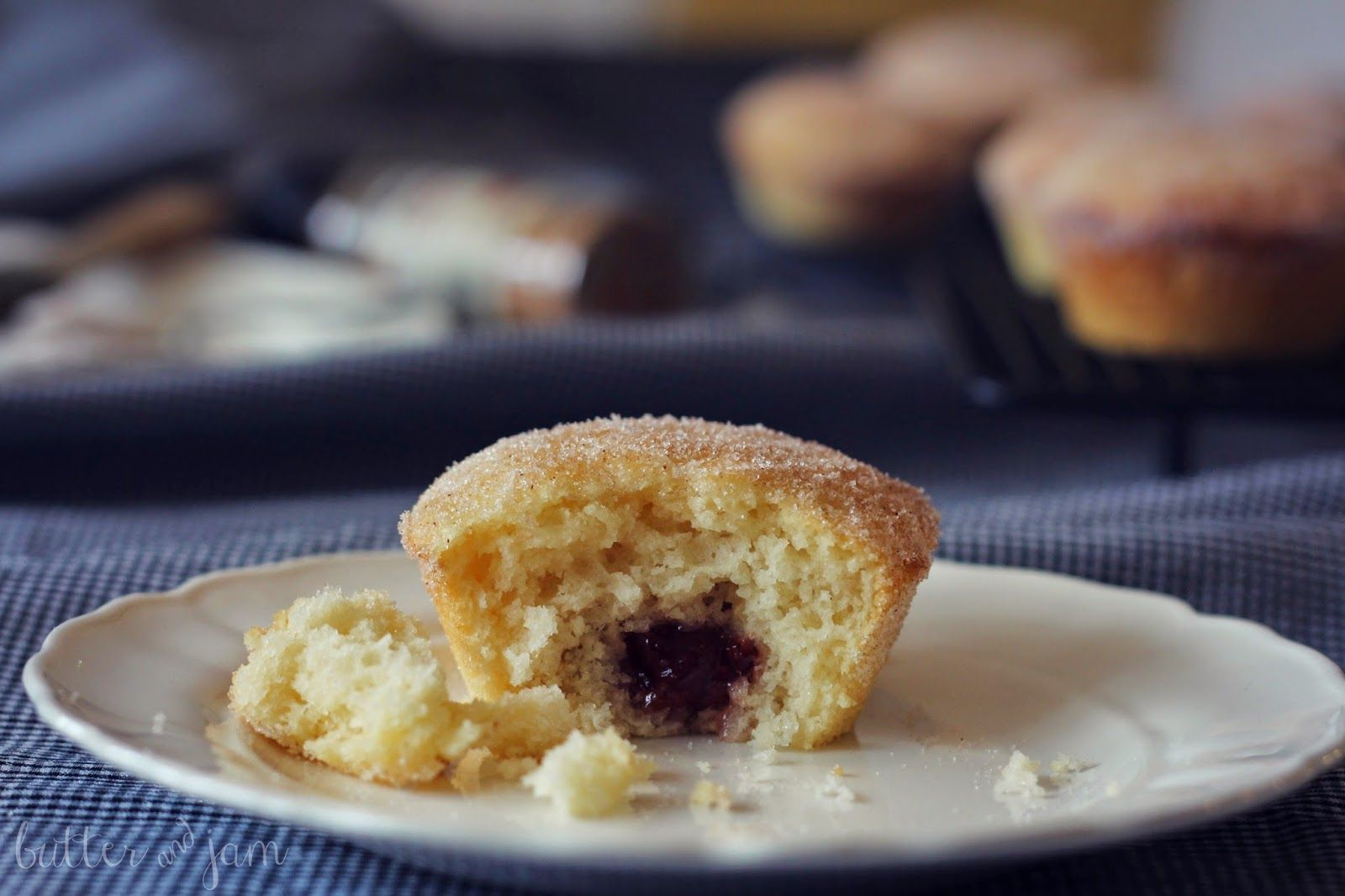 Jam Donut Muffins - just like the store-bought donuts, but in a homemade muffin form!