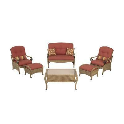 Martha Stewart Living Belle Isle Wicker Collection 6 piece ... on Martha Stewart 6 Piece Patio Set id=88053