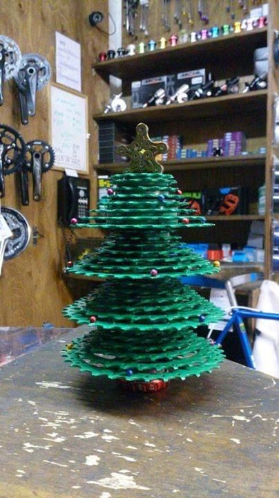Recycled Bicycle Parts Christmas Tree Bike Art Pinterest