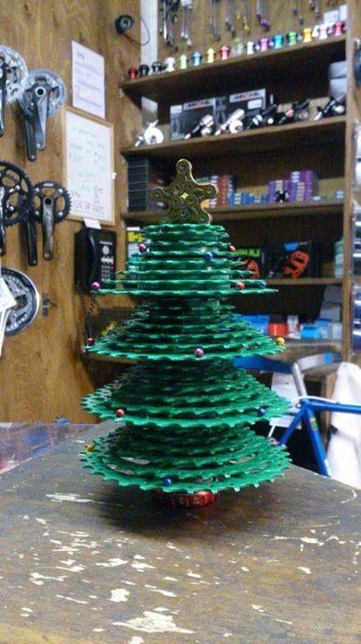 Recycled Bicycle Parts Christmas Tree Christmas Tree Holiday Decor Christmas Ornaments