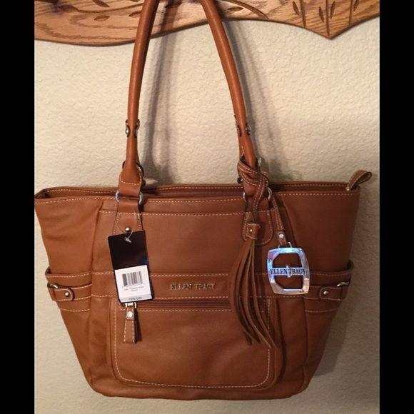 New Ellen Tracy bag, w tags, See pics, soft feel, roomy, Norah bag. Ellen Tracy Bags