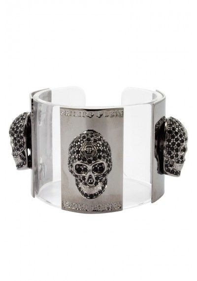 Philipp Plein - 'Skulls' Bracelet Silver Front (FW14-AW870567)