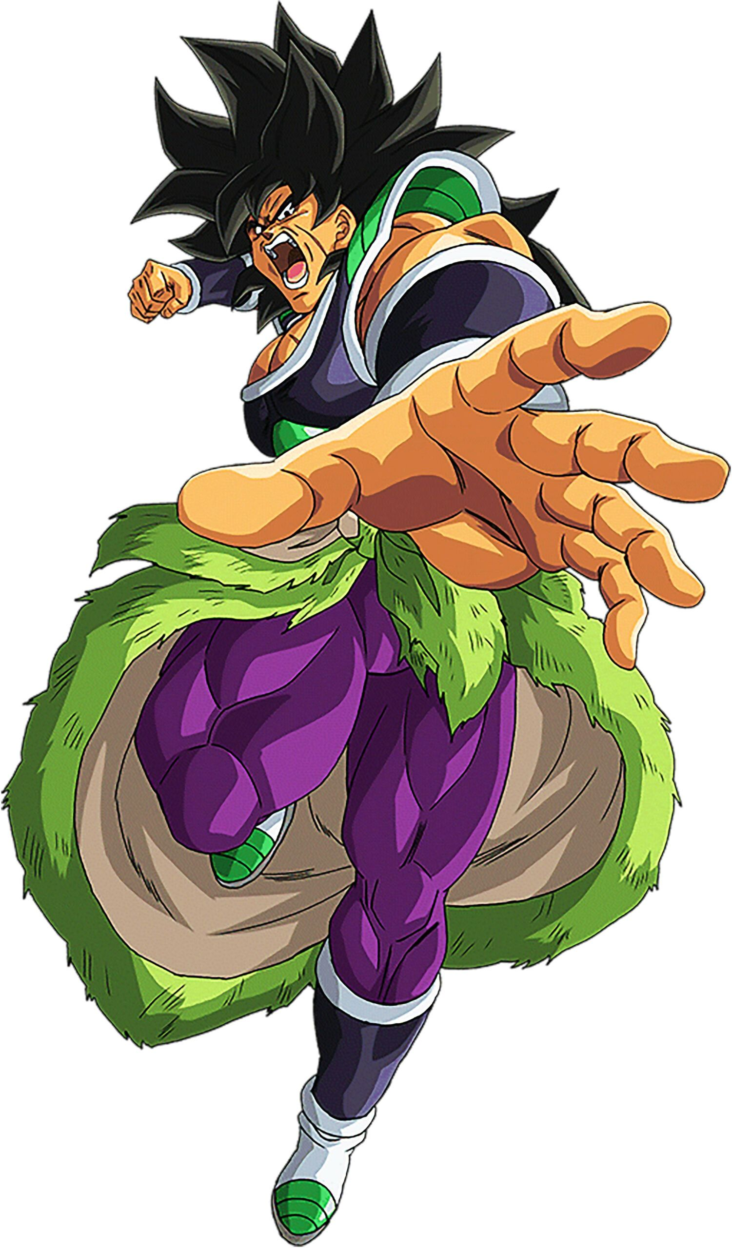 Luxury Base Form Broly Trying To Punch Dragon ball super