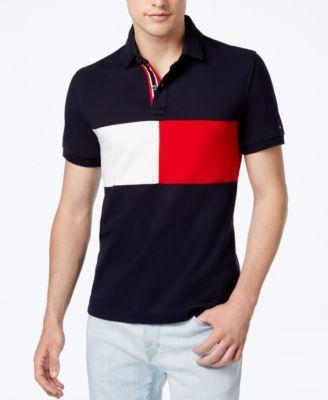 6caa4628 TOMMY HILFIGER Tommy Hilfiger Men'S Logo Carson Colorblocked Stretch Polo. # tommyhilfiger #cloth # polos