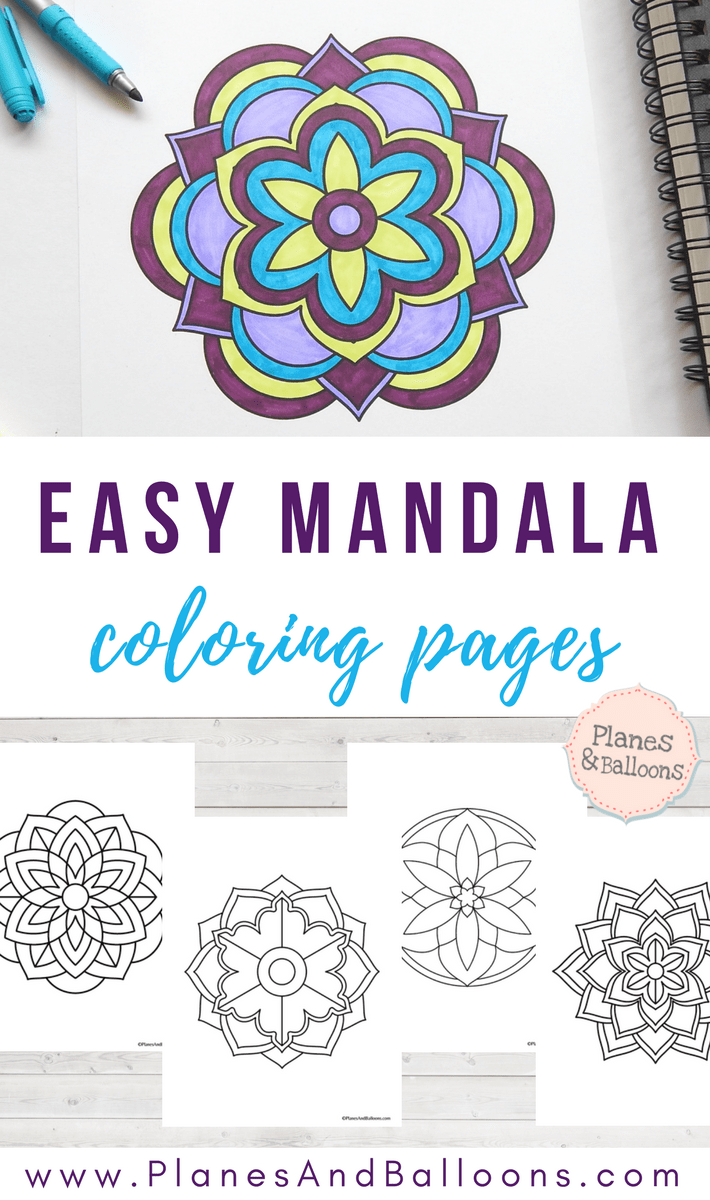 Easy mandala coloring pages that you'll actually want to color is part of Easy coloring pages, Simple mandala, Mandala coloring, Coloring pages, Mandala coloring pages, Free adult coloring pages - Grab these easy mandala coloring pages today and enjoy a few minutes of uninterrupted relaxing activity! These free mandala coloring pages are perfect for adults and kids alike