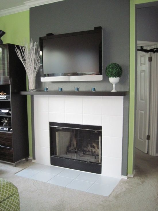 Tile Fireplace @ Home Design Ideas | Decor ideas | Pinterest | Tiled ...