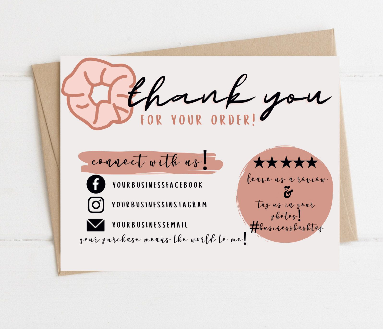 Instant Download Thank You Card Editable And Printable Thank Etsy Business Thank You Cards Printable Thank You Cards Thank You Cards