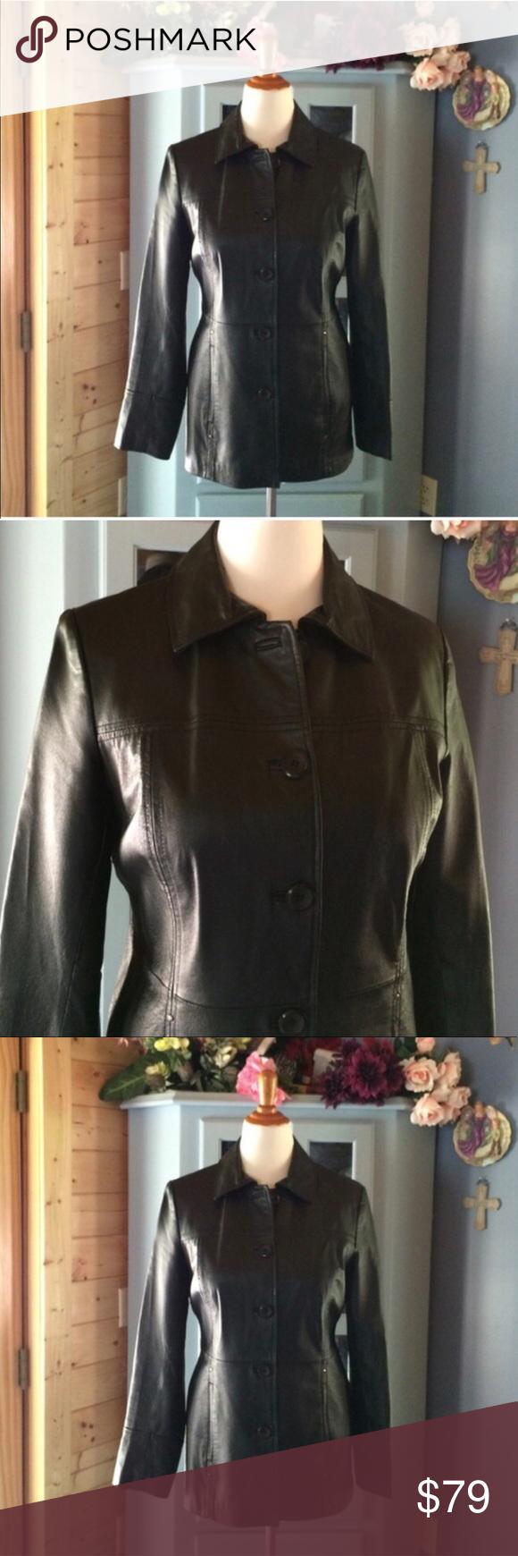EAST 5th Black LEATHER Coat. Brand NEW!! Stunning! Brand