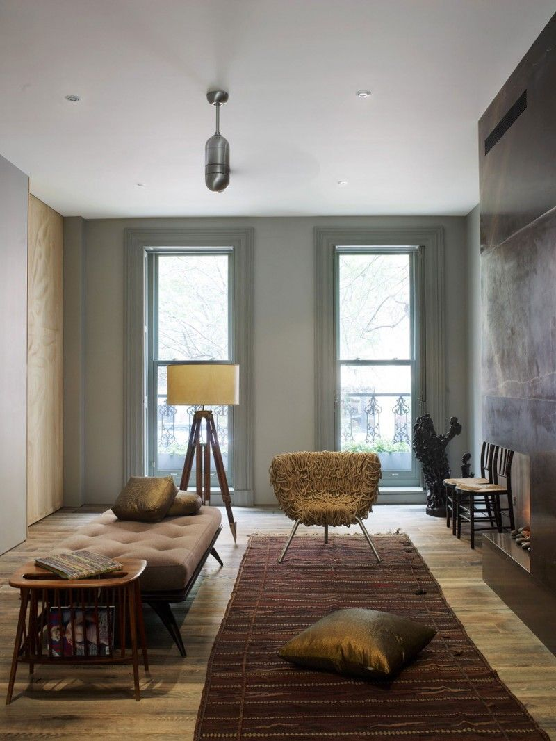 townhouse contemporary furniture. Chelsea Townhouse Is A Three Story Contemporary Renovation With Garden Extension By Architecture Studio Archi-Tectonics, Located In Chelsea, New York. Furniture P