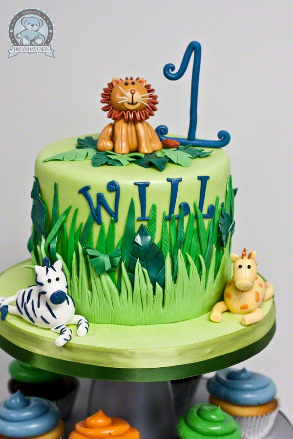 Jungle Themed Birthday Cake Gainesville FL Dream Day Cakes