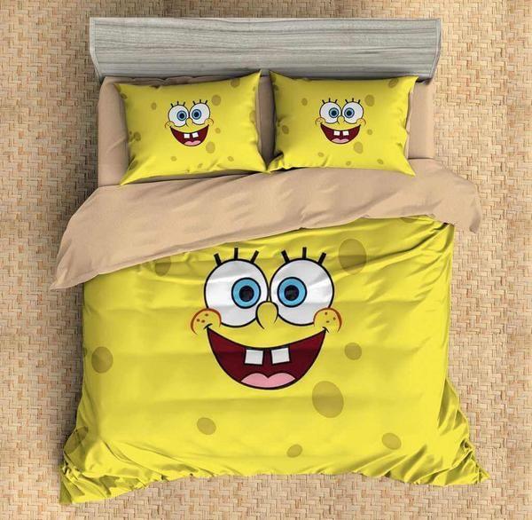 Customize Spongebob Squarepants Bedding Set Duvet Cover Bedroom Bedlinen