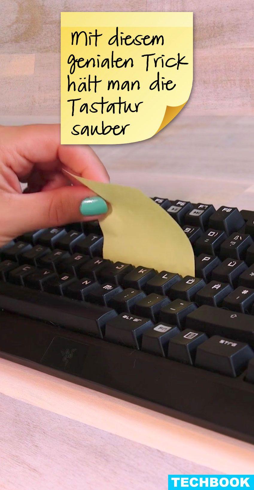 mit diesem genialen trick haltet ihr die tastatur sauber magazin pinterest tastatur. Black Bedroom Furniture Sets. Home Design Ideas