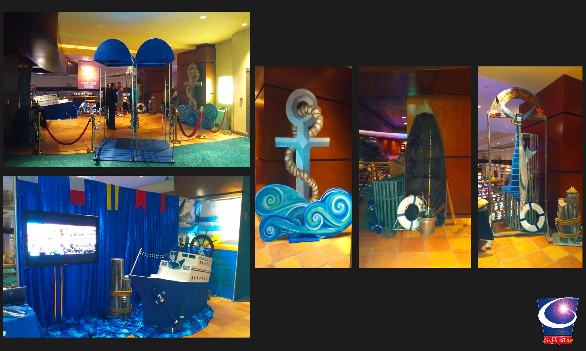 Cruise Ship Theme Event Decor Designed And Built By Sixth Star Entertainment. Www ...