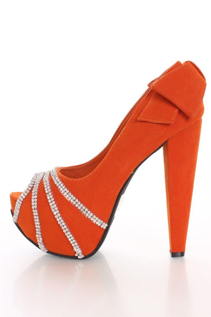 776b9624a50 shoes heels calida orange