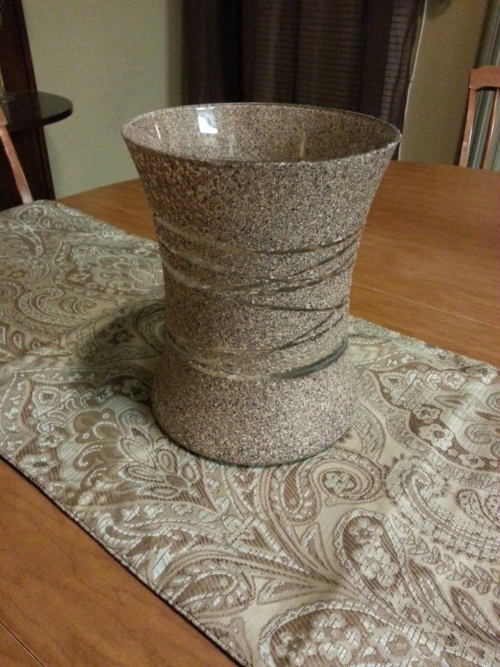 Granite Spray Paint Glass Vase And Bag Of Rubber Bands