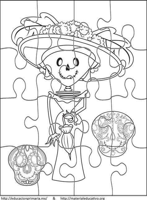 rompecabezasdiademuertos1 | Free time | Halloween-Party-Ideen ...