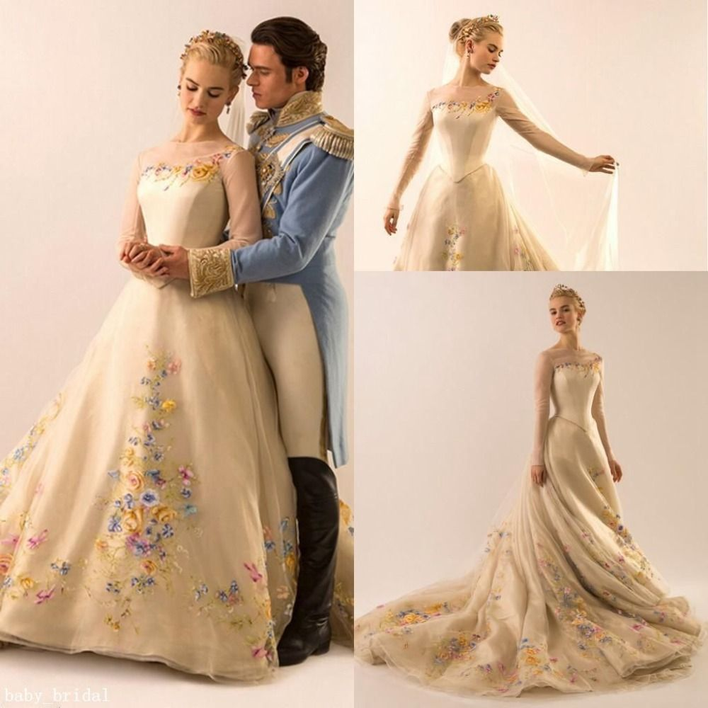 Cheap Champagne Ball Gowns Buy Quality Embroidery Wedding Dresses Directly From China Dress Suppliers Vestido De Noiva Hot Sale 2017 New