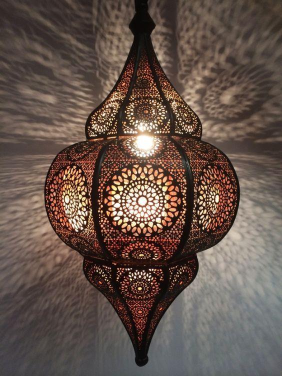 Orientalische Indische Deckenlampe Malha Marokkanische Lampe