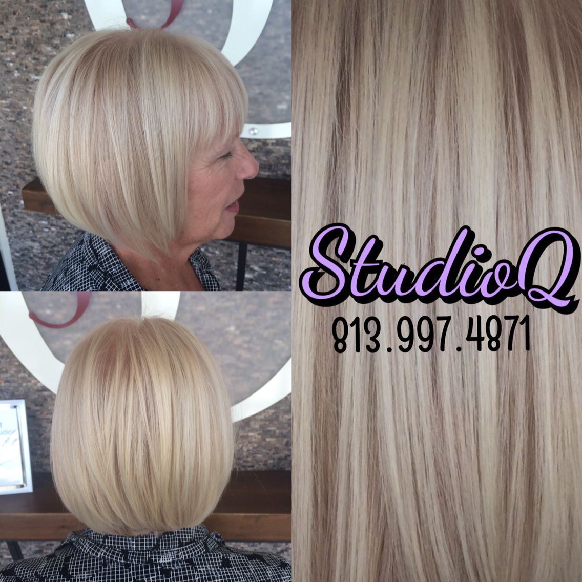 For Judys Bob We Retouched Her With Paul Mitchell The Color 9a 9n