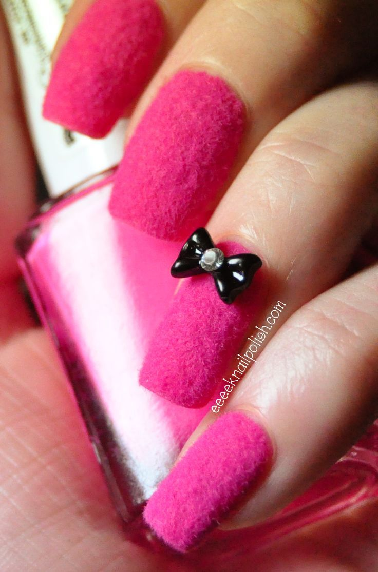 40 Fotos de uñas decoradas con terciopelo – velvet Nail art ...