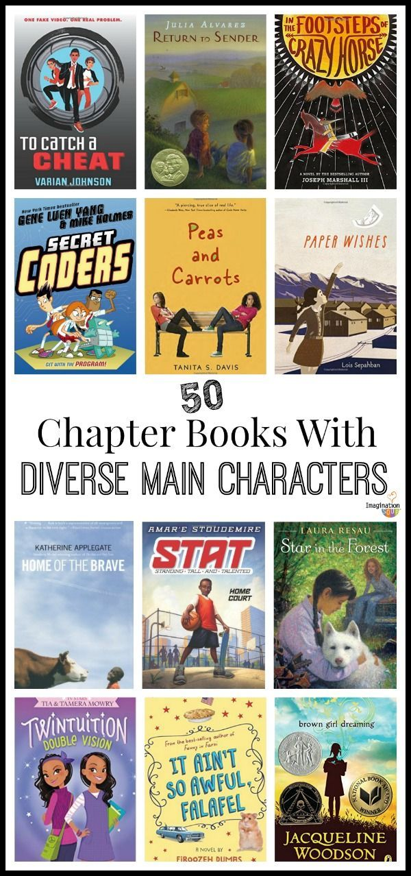 LOVE this list of chapter books with diverse main characters!