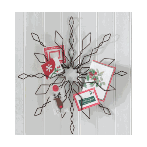 Wire card holder wall new house designs snowflake wall greeting card holder christmas pinterest craft m4hsunfo