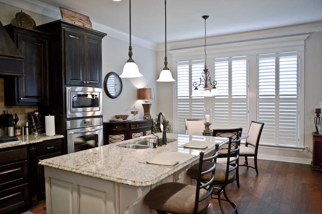 shutters wood white kitchen by the louver shop kitchen window coverings kitchen window on kitchen interior with window id=82587