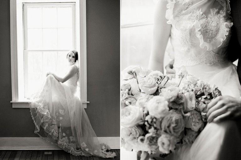 Unique Wedding Dress Fine Art Bride Fine Art Bouquet Black And
