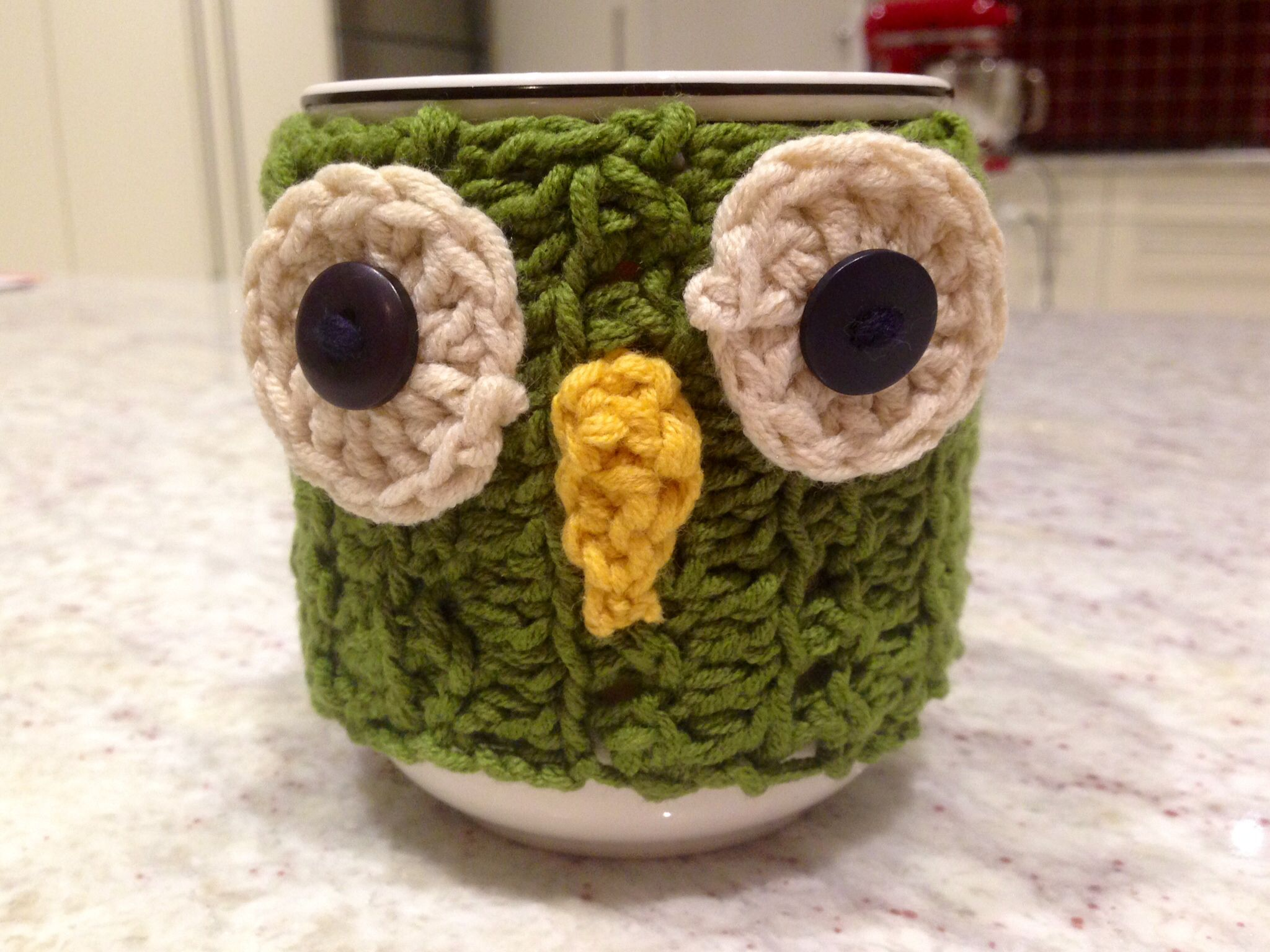 Made this mug-cosie last night!