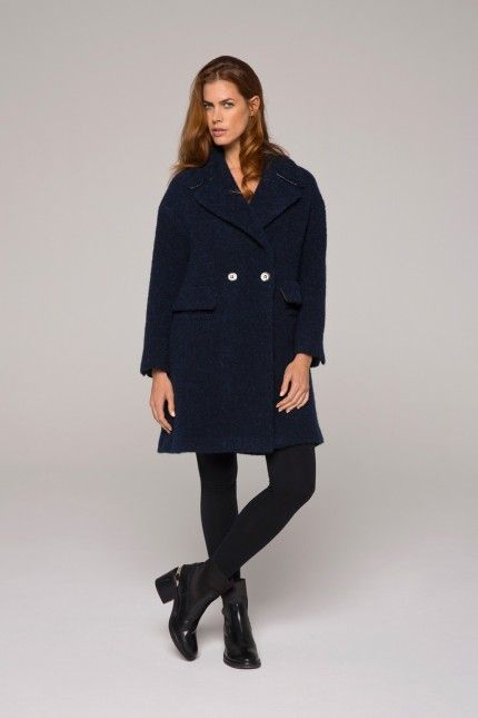 d769d51de7b56 Manteau bouclette laine marine, alpaga et mohair, forme esprit pardessus   manteau  marine  laine  alpaga  mohair  femme  qualité   lenerfabriquedemanteaux