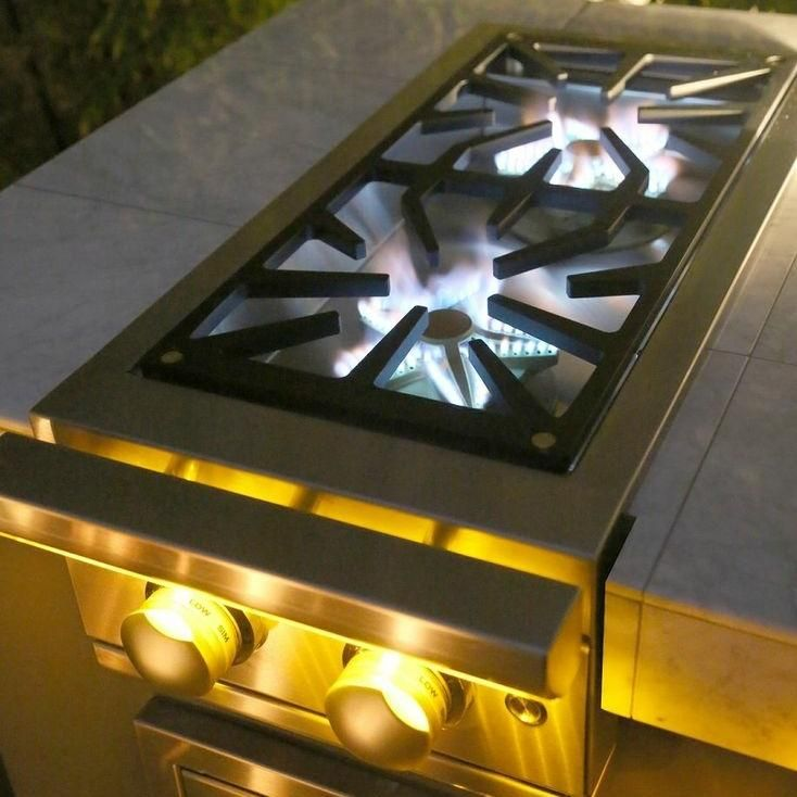 Caliber Power Pro Built In Natural Gas Double Side Burner Outdoor Kitchen Outdoor Kitchen Design Built In Grill