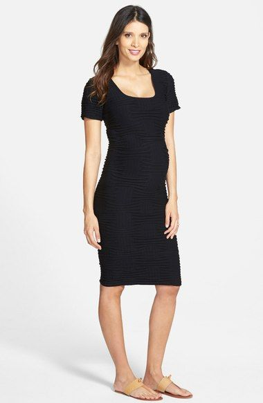 9eb2997e5d4c Tees by Tina Crosshatch Maternity Dress available at #Nordstrom ...