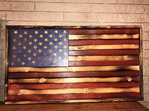 Charred American Flag Wall Hanging