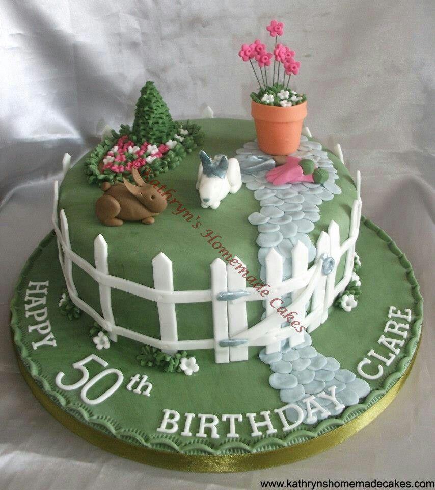 Garden birthday cake abuelitous cake idea pinterest garden