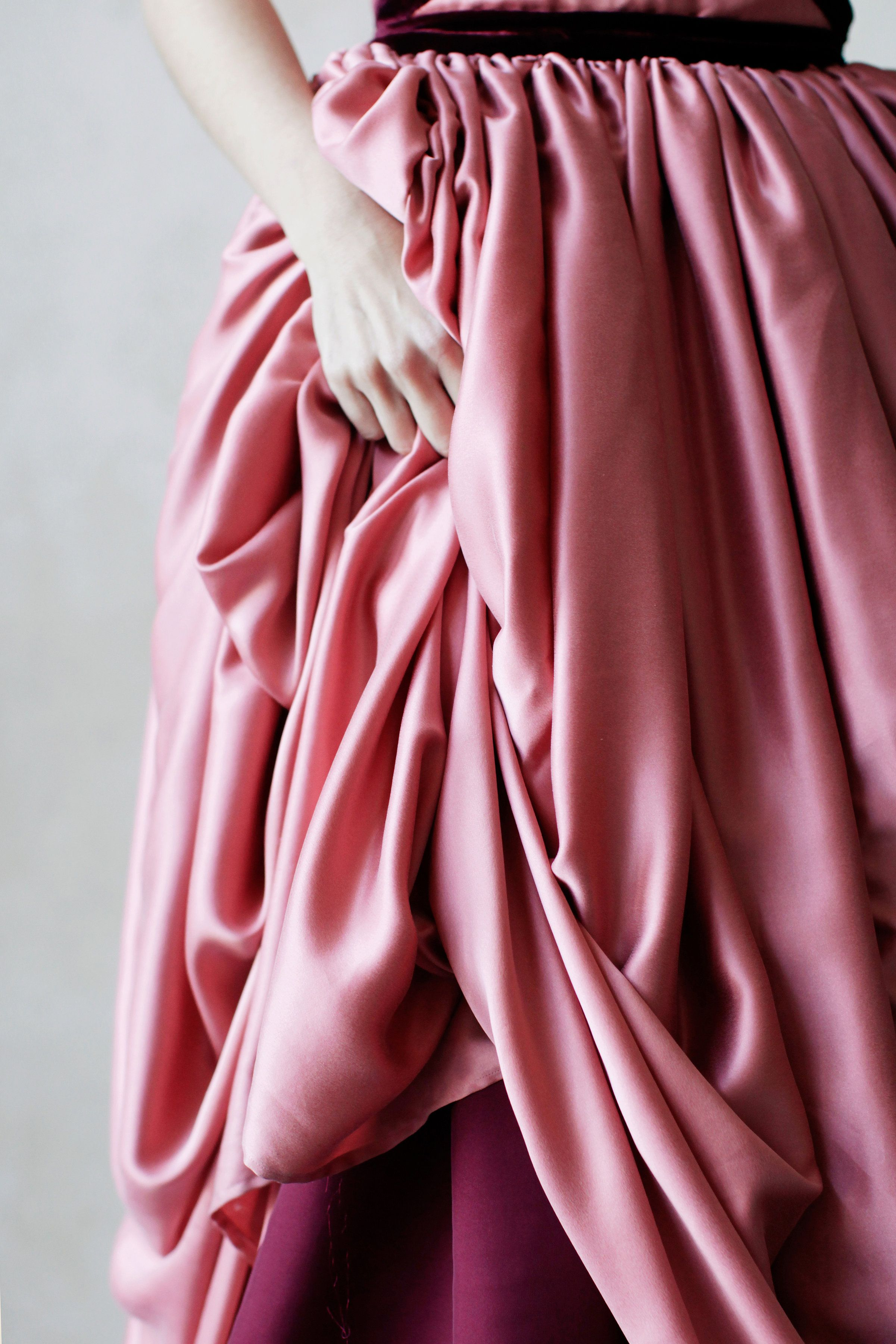 Pink princess silk gown | Coloured Wedding Gowns | Pinterest