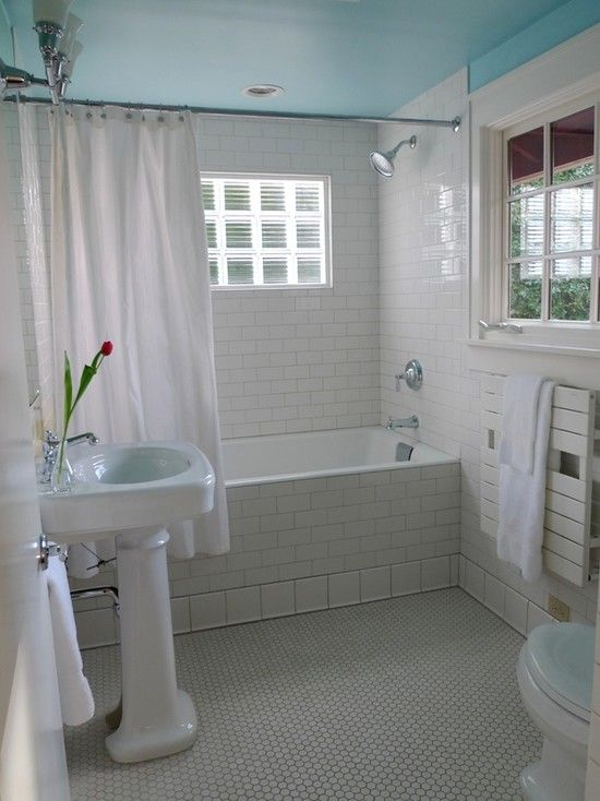 Bathroom Blue Ceiling Design, Pictures, Remodel, Decor and Ideas