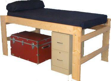 high beds - High Platform Bed Frame