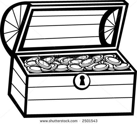 treasure chest coloring page printable treasure chest stock vector 2501543 shutterstock wallpaper