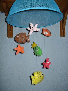 Movil de peces para bebes | Techos, Decoraciones escolares, Móvil ...
