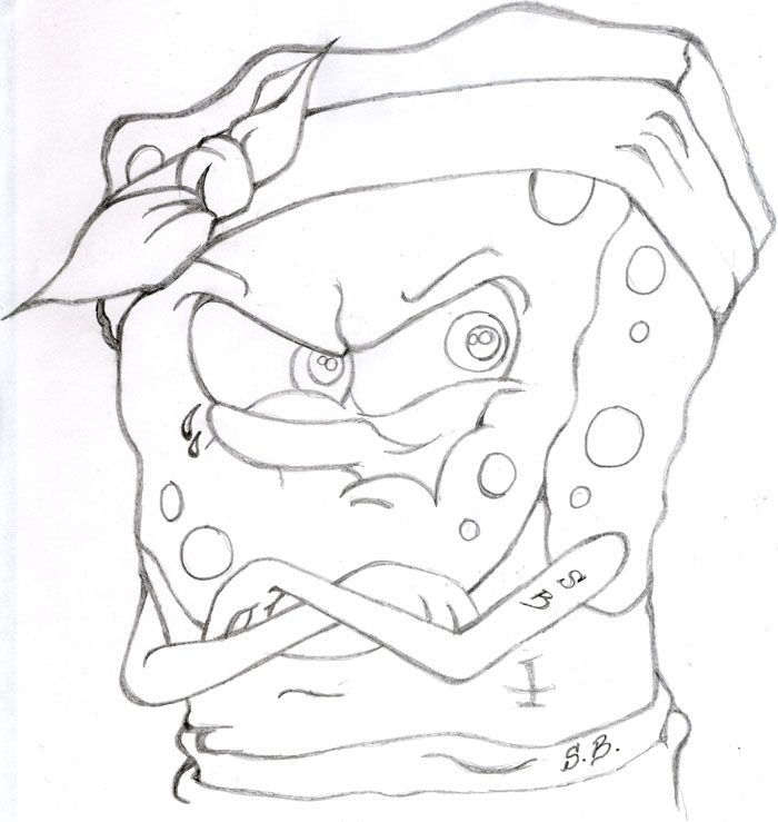 Gangster Spongebob Drawings Spongebob Drawings Spongebob Coloring Drawings