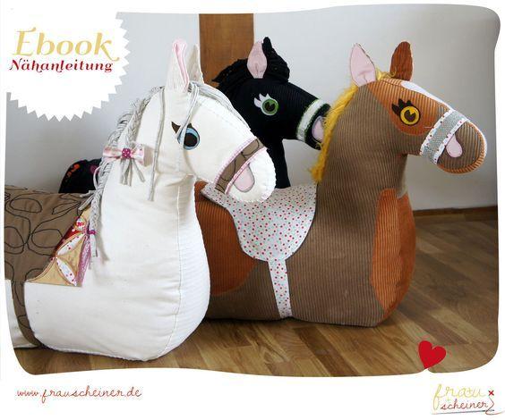 Nähanleitung und Schnittmuster Reittier Pferd | Pinterest | Makerist ...