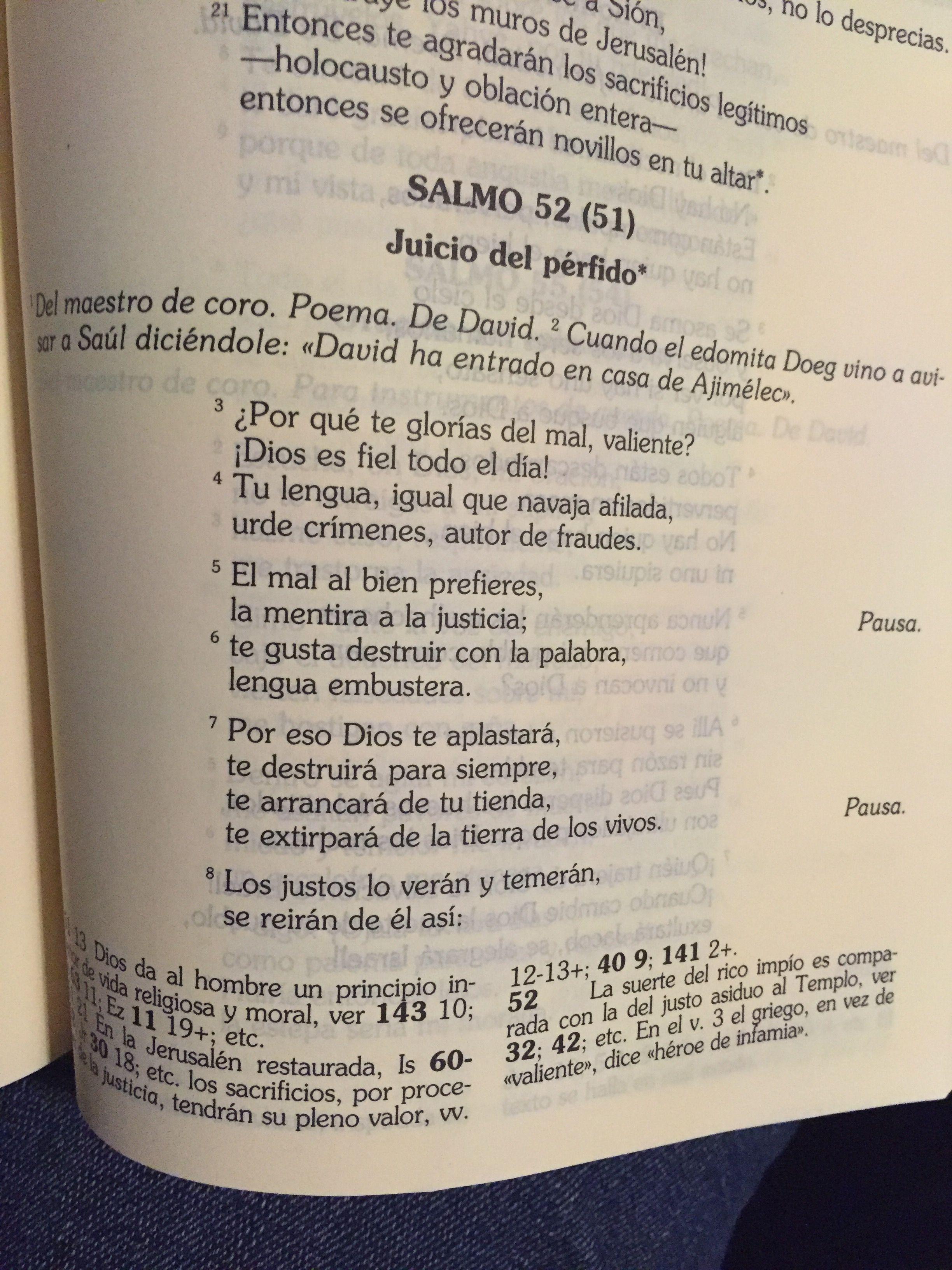 Salmo 52 Biblia Catolica | Ocity