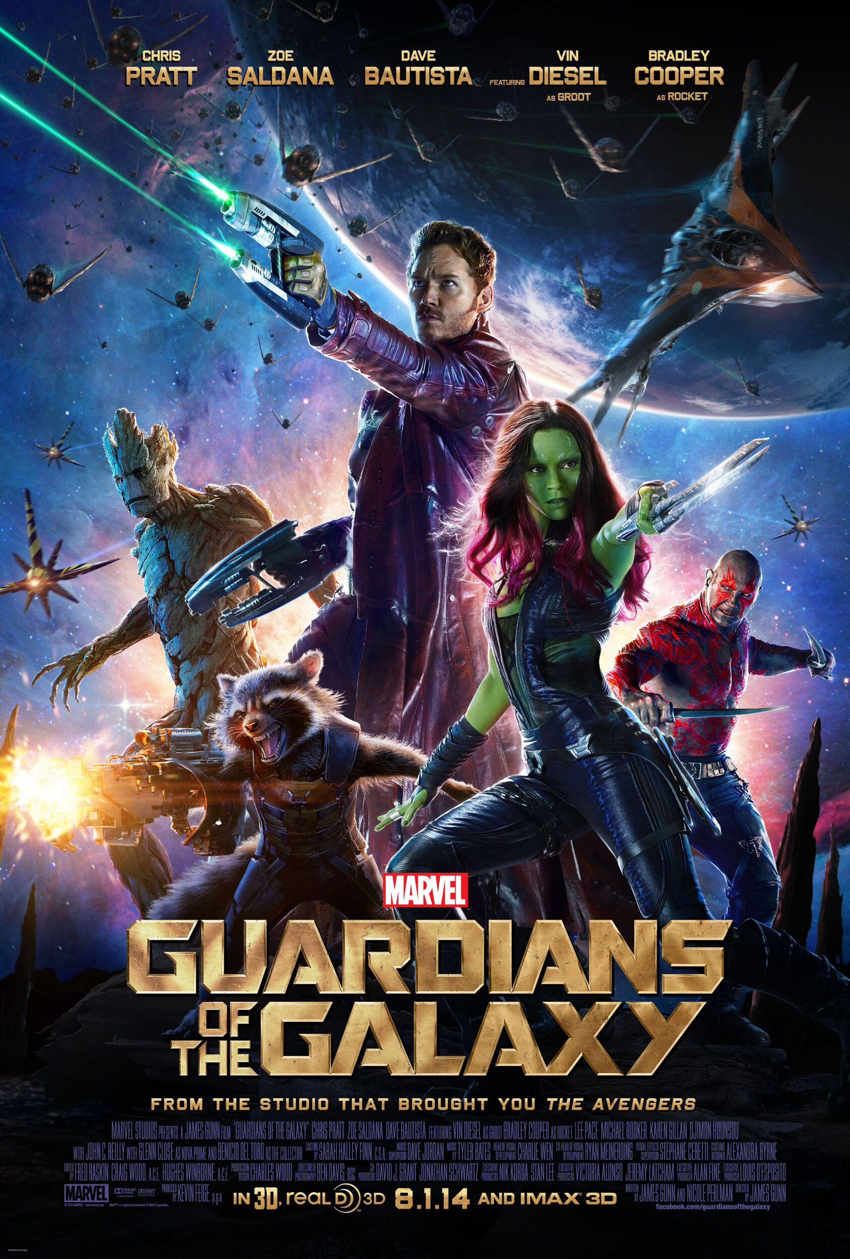 Cartaz do filme Guardiões da Galáxia! 10/10.