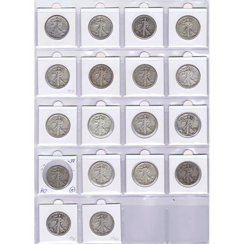 Colección 18 monedas de plata EEUU 1/2 Dollar Liberty.
