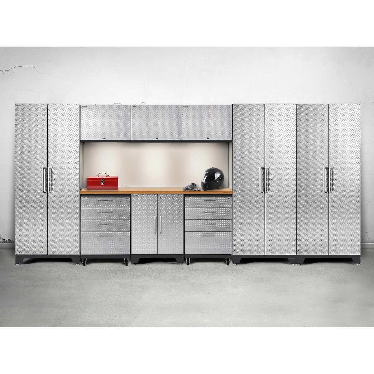 10-Piece Warehouse Steel Cabinet Set Workshop Garage ...