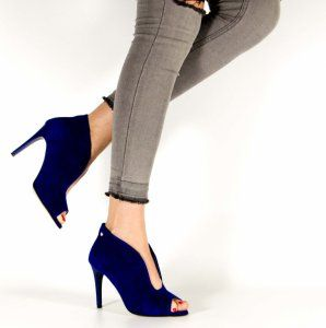 Locci Wiosenne Botki Szpilka Zamsz Szafir Skora 6077366081 Oficjalne Archiwum Allegro Stiletto Heels Stiletto Fashion