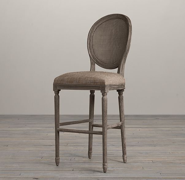 Vintage French Round Cane Back Fabric Stool In 2019 2015